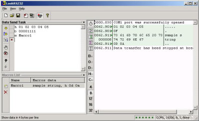 Look RS232 Screenshot
